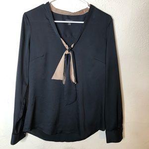 ANN TAYLOR Bow Long Sleeve Blouse Shirt